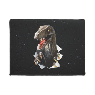 Velociraptor in Space Doormat