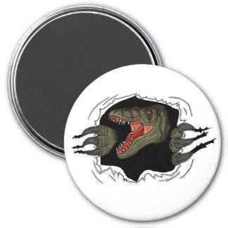 Velociraptor Ripping Through 3 Inch Round Magnet