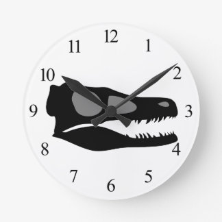 Velociraptor Skull Round Clock