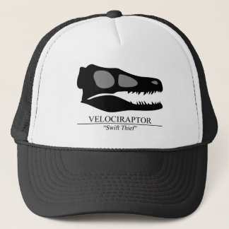 Velociraptor Skull Trucker Hat