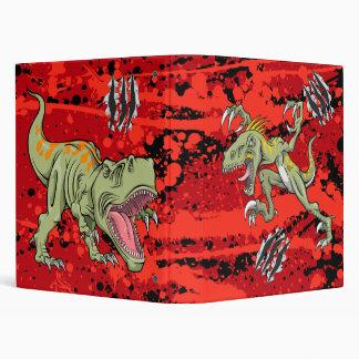Velociraptor vs Tyrannosaurus Rex Dinosaur  Binder