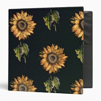 Velours au Sabre silk decoration of Sunflowers Binders