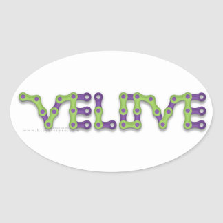 VELOVE oval sticker