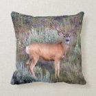 Velvet buck throw pillow