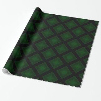 Velvet Diamonds (Green) Wrapping Paper