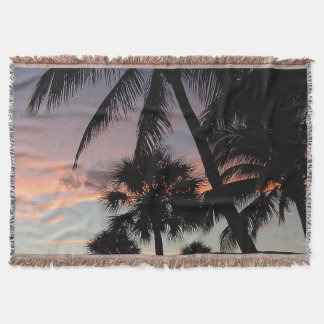 Velvet Palms Throw Blanket