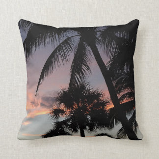 Velvet Palms Throw Pillow