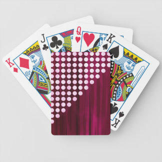 Velvet Polka dot Pattern Bicycle Playing Cards