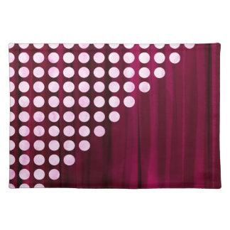 Velvet Polka dot Pattern Placemat