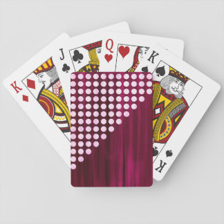 Velvet Polka dot Pattern Playing Cards