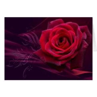 Velvet Rose Greeting Card