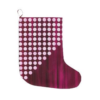 Velvet With White Polka Dots Pattern Large Christmas Stocking