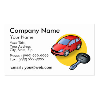 vendeur automobile modèles de cartes de visite