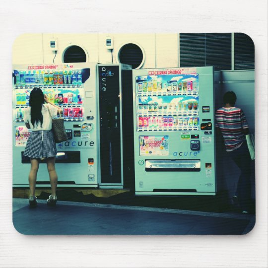 Vending Machines in Japan Postcard Mouse Pad