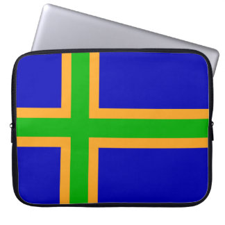 Vendsyssel district Denmark region flag symbol cro Laptop Sleeve