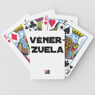 VÉNER-ZUELA - Word games - François City Bicycle Playing Cards