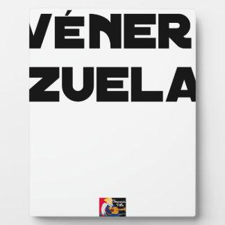VÉNER-ZUELA - Word games - François City Plaque