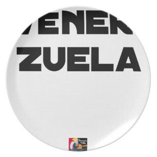VÉNER-ZUELA - Word games - François City Plate