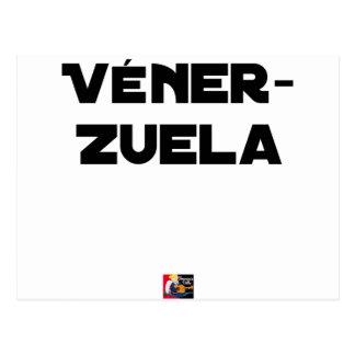 VÉNER-ZUELA - Word games - François City Postcard