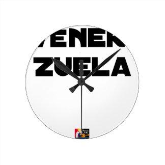 VÉNER-ZUELA - Word games - François City Round Clock