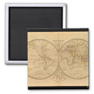 Venerable World Map 9_Maps of Antiquity Square Magnet