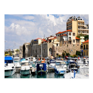 Venetian arsenalharbour Heraklion Crete Greece Postcard