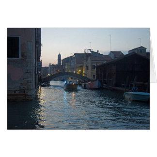 Venetian Canal at Dusk Card