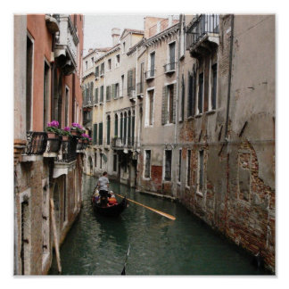 Venetian Canal Poster