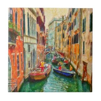 Venetian Canal Venice Italy Tile