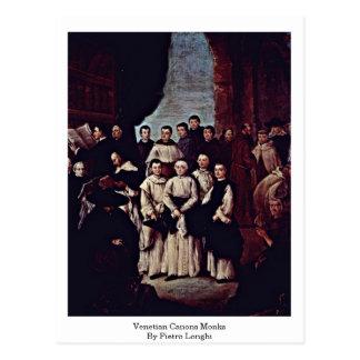 Venetian Canons Monks By Pietro Longhi Postcards