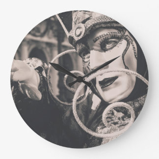 Venetian carnival mask large clock