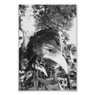 Venetian Carnival Mask Venice Italy Poster Print