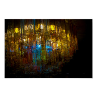 Venetian Chandelier Print on Canvas