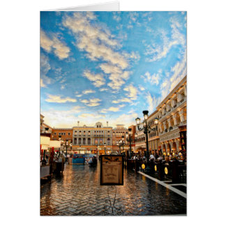 Venetian Courtyard Las Vegas Card