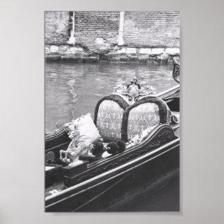 Venetian Gondola Detail Photography Print Poster