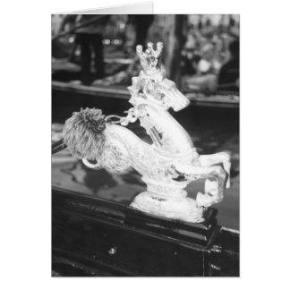 Venetian Gondola Horse Brass Note Greeting Card