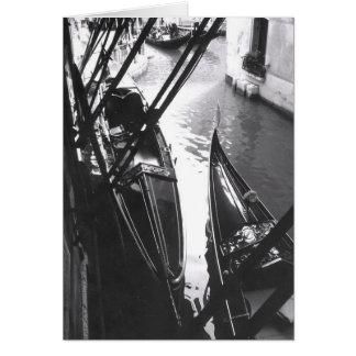 Venetian Gondolas in the Shade Greeting Card