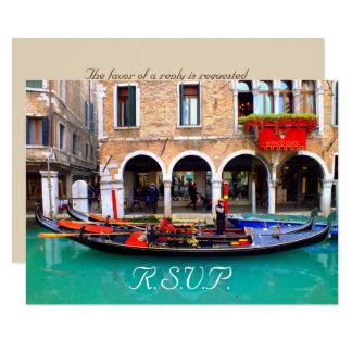 Venetian Gondolas - RSVP Cards