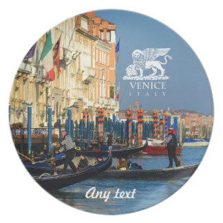 Venetian gondoliers plate