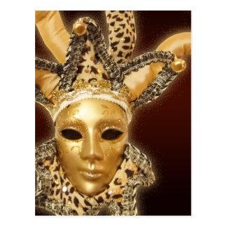 Venetian Jester Mask postcard