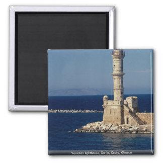 Venetian lighthouse, Xania, Crete, Greece Magnet