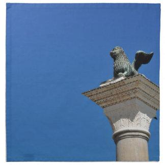 Venetian lion napkin