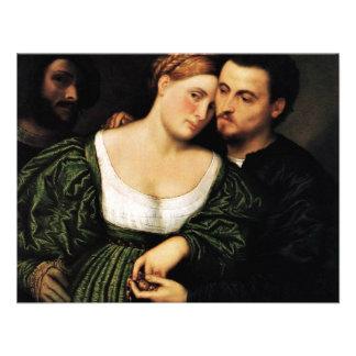 Venetian Lovers By Bordone Paris Best Quality Custom Invite