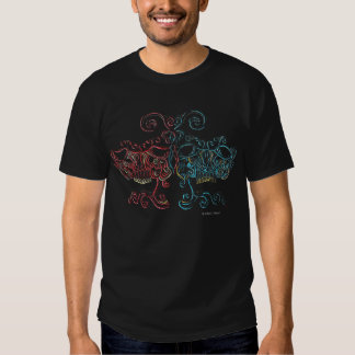 Venetian Macabe Comedy Tragedy Masks Tee Shirt