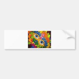 Venetian mask bumper sticker