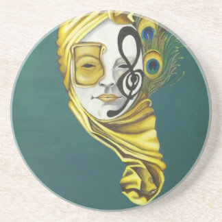 Venetian Mask Drink Coaster