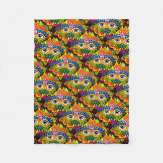 Venetian mask fleece blanket