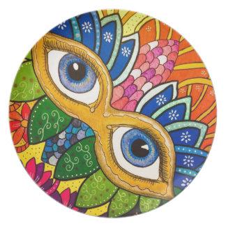 Venetian mask plate