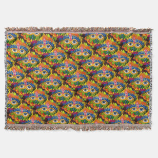 Venetian mask throw blanket