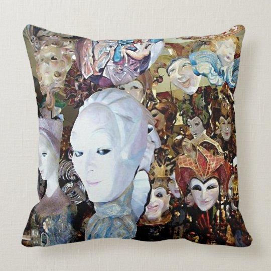 Venetian Masks 2 Throw Pillow